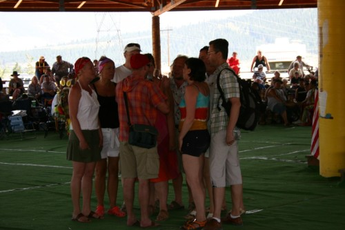 Members of the Estonian choir were invited to sing at the Pow Wow and were happy to do so!
