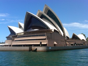 View of the Sydney Opera House from zoo ferry