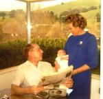 Mom and Dad with Diana Feb 1970